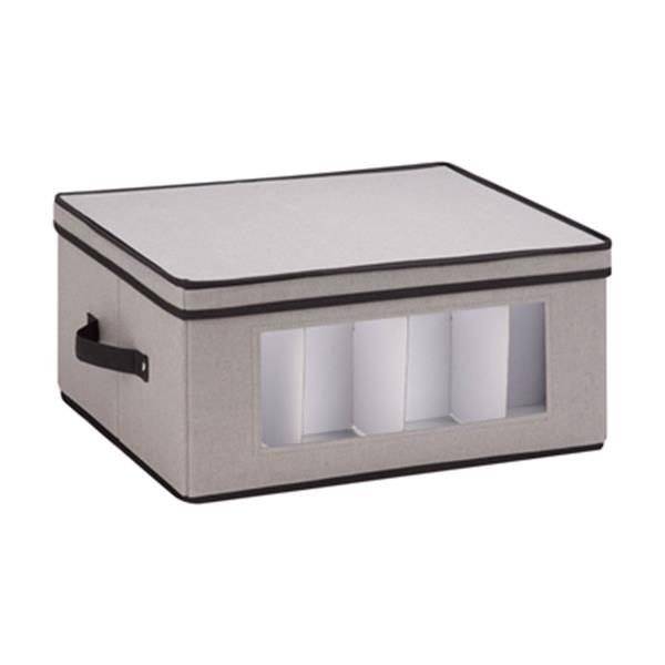 Honey Can Do 8.50-in x 13.88-in Grey Window Storage Box