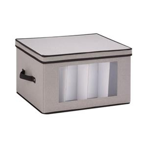 Honey Can Do 10.62-in x 13.50-in Grey Window Storage Box