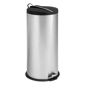 Honey Can Do Stainless Steel 30L Round Step Can with Bucket