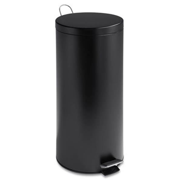 Honey Can Do 27.5-in x 13-in x13-in Black Matte Round Can with Bucket