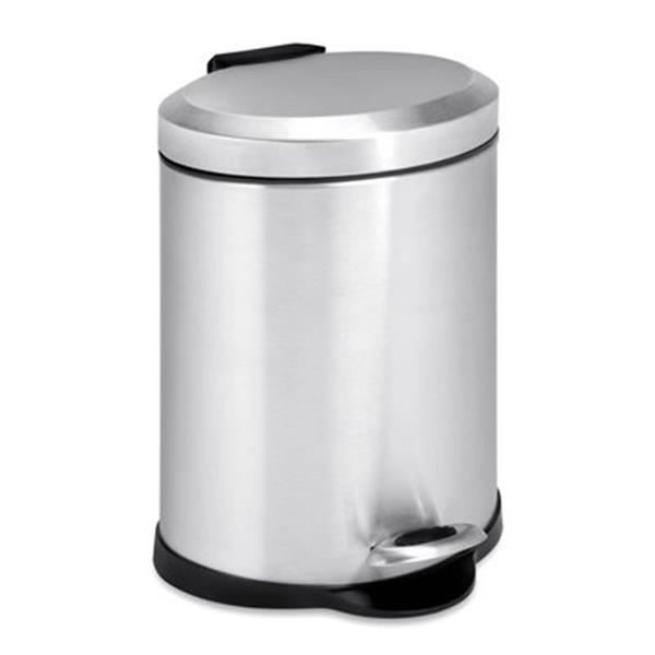 Honey Can Do 11.75-in x7.88-in x7.88-in Stainless Steel Oval Step Can