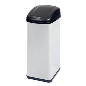 Honey Can Do Stainless Steel Square Sensor 52L Trash Can