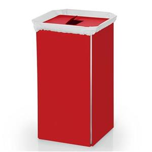 WS Bath Collections Complements Red Aluminum Laundry Basket