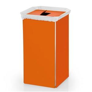 WS Bath Collections Complements Orange Aluminum Laundry Basket