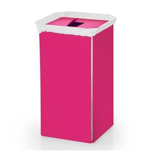 WS Bath Collections Complements Pink Aluminum Laundry Basket
