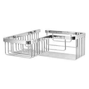 WS Bath Collections Filo 10.40-in Polished Chrome Corner Shower Basket
