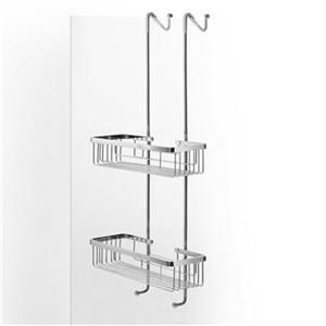 WS Bath Collections Filo 26.80-in Polished Chrome Hanging Double Shower Basket