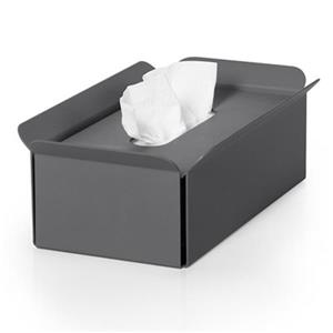WS Bath Collections Bandoni Dark Grey Compliments Tissue Box