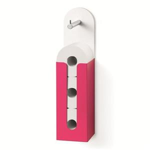 WS Bath Collections Inmucia 5135 Complements Fuchsia Toilet Paper Holder With Storage