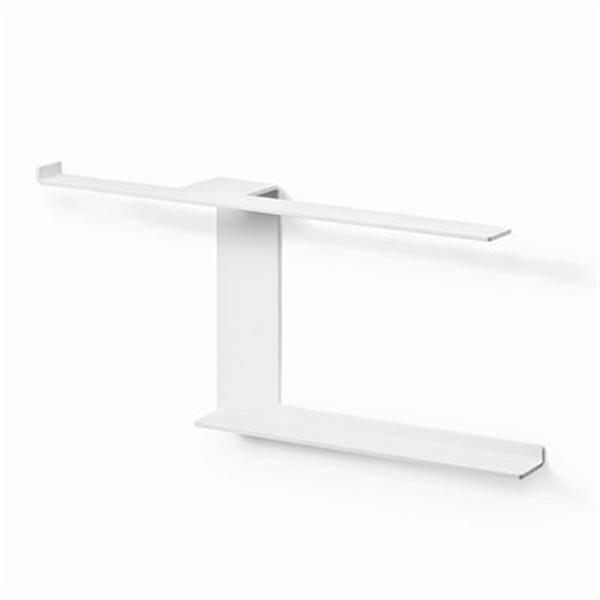 WS Bath Collections Piega 5136 Complements Rust Toilet Paper Holder And Multi Function Wall Bar