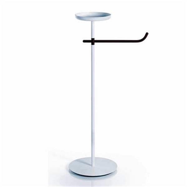 WS Bath Collections Impie 5112  Complements White Bathroom Accessories Stand