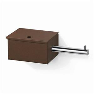 WS Bath Collections Scondi 5137 Complements Rust Toilet Paper Holder With Storage