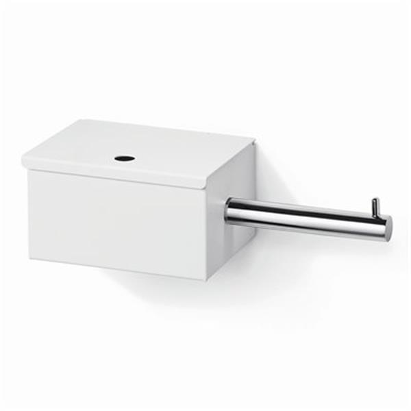WS Bath Collections Scondi 5137 Complements White Toilet Paper Holder With Storage
