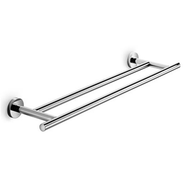 WS Bath Collections Spritz 25.60-in Polished Chrome Double Towel Bar