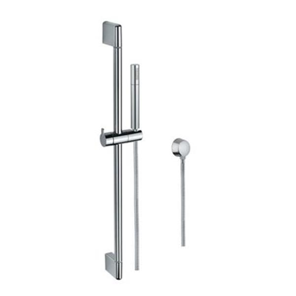 Nameeks Superinox Polished Chrome Wall Mounted Hand Shower With Sliding Rail And Water Connection Rona