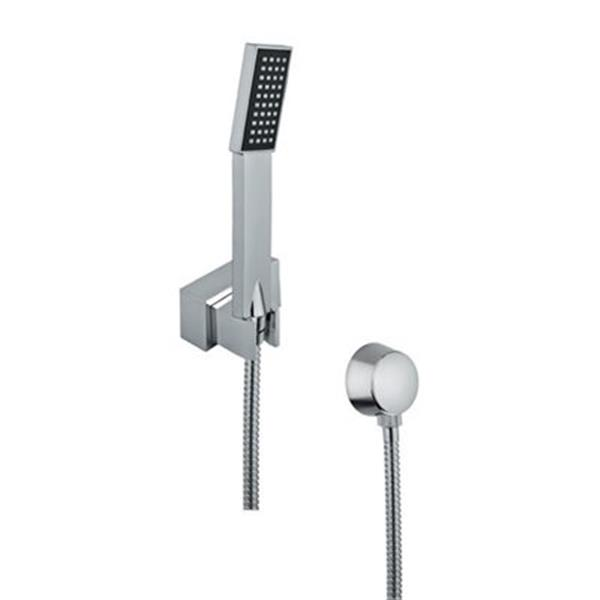 Nameeks Superinox 59 In Polished Chrome Wall Mounted Hand Shower System Rona