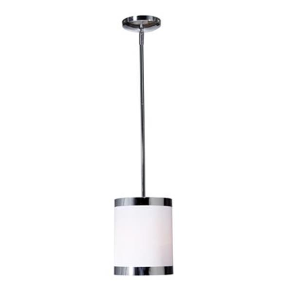 Artcraft Lighting Madison Collection by Steven & Chris 7-in x 9.25-in White Cylinder Mini Pendant Light