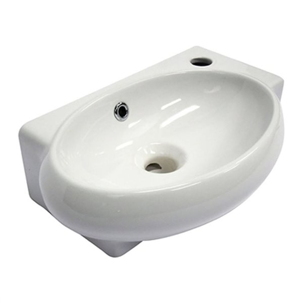 Alfi Brand 17 In X 10 75 In Small White Wall Mounted Ceramic Oval Bathroom Sink Ab107 Rona