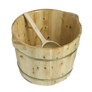 ALFI Brand Round Wooden Cedar Food Soaking Tub