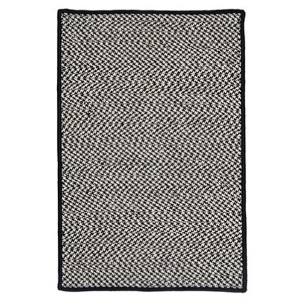 Colonial Mills 8-ft x 8-ft Grey Houndstooth Tweed Indoor/Outdoor Area Rug