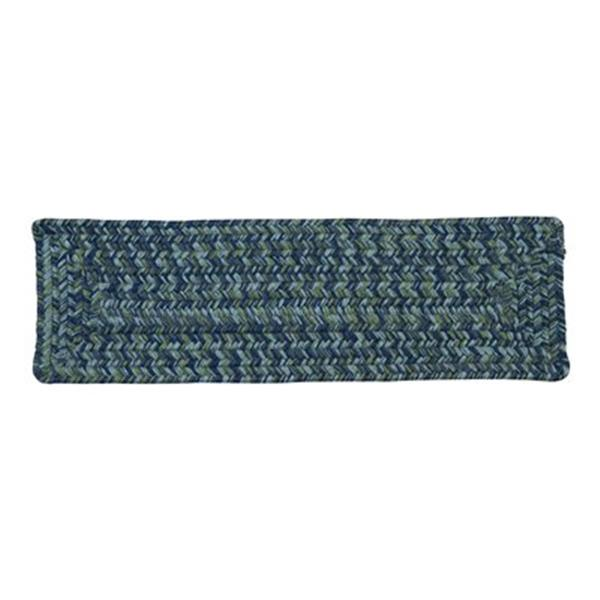 Colonial Mills Catalina 8-in x 28-in Deep Sea Stair Tread Mat - 13/pack