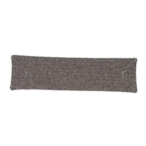 Colonial Mills Shear Natural 8-in x 28-in Rockport Gray Stair Tread Mat - 13/pack