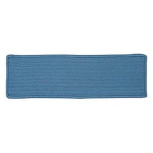 Colonial Mills Simply Home Solid 8-in x 28-in Blue Ice Stair Tread Mat - 13/pack