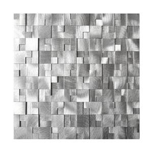 3D Raised Cobblestone Pattern Aluminum Mosaic Tile - 8-Pack.