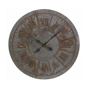 IMAX Worldwide Gilbert 32-in Galvanized Wall Clock