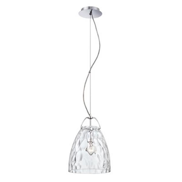 Eurofase Amero Collection 9.75-in x 13.5-in Chrome Cone Mini Pendant Light