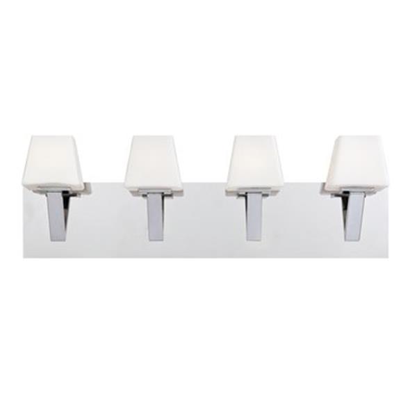 Eurofase Anglo Chrome 4-Light Bathroom Vanity Light