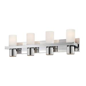 Eurofase Pillar Chrome 8-Light Bathroom Vanity Light