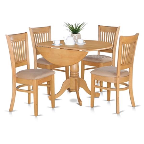 East West Furniture Dublin Round Pedestal Drop Leaf Dining Table Lucite Tables Home Garden