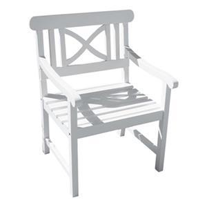 Vifah Bradley Acacia Contoured Wood Armchair