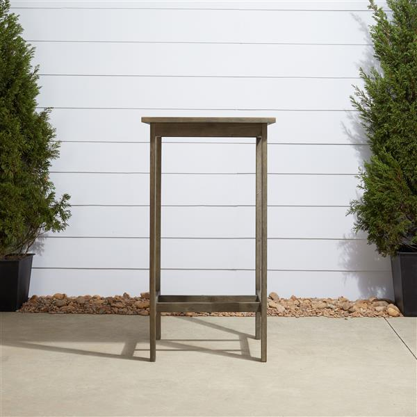 Vifah Renaissance 24-in x 24-in Brown Hand-Scraped Square Outdoor Bar Table