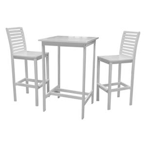 Vifah 3-Piece Bradley Outdoor Acacia Bar Set,V1357SET2