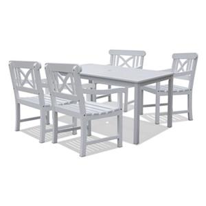 Vifah 5-Piece Bradley Outdoor Wood Dining Set,V1336SET2