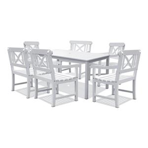 Vifah Bradley 7-Piece Outdoor Wood Dining Set,V1336SET3