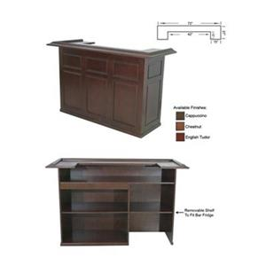 RAM Game Room Products 72-in Cappuccino Brown Wood Bar