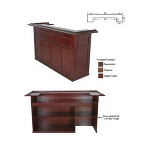 RAM Game Room Products Chestnut Brown 84-in Wood Bar
