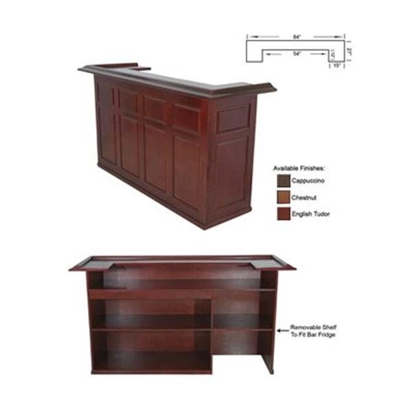 RAM Game Room Products Black 84-in Wood Bar