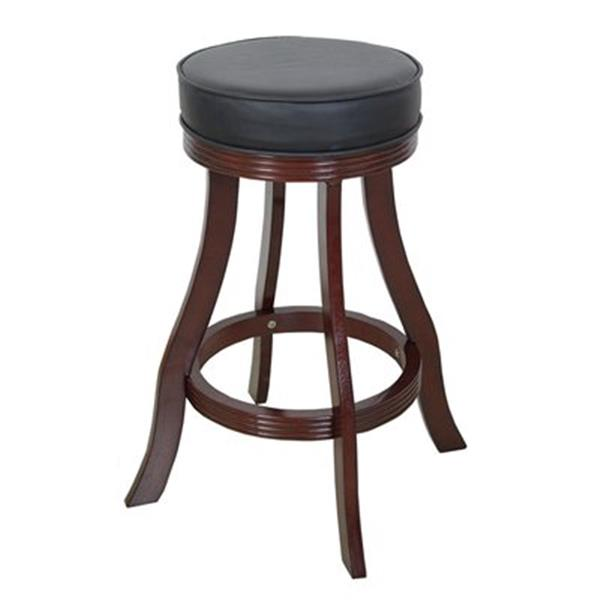 RAM Game Room Products Cappuccino Backless Bar Stool
