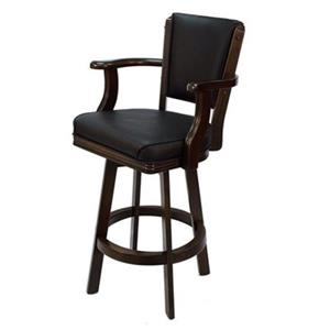 RAM Game Room Products Black Swivel Bar Stool with Arms