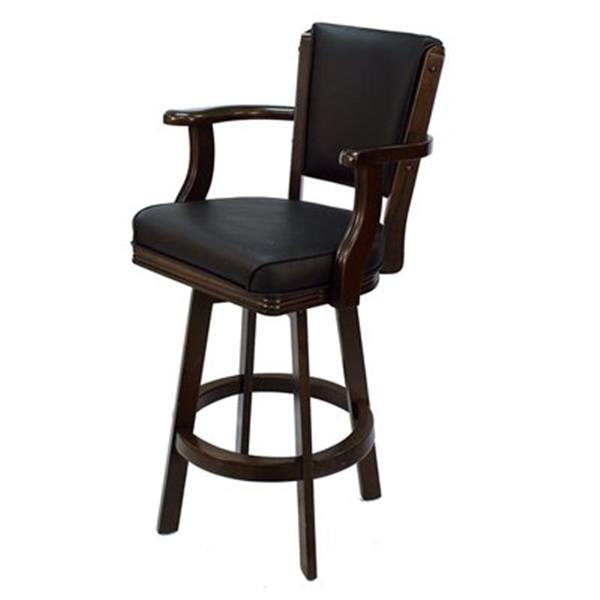 RAM Game Room Products Cappuccino Swivel Bar Stool with Arms