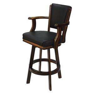 RAM Game Room Products Chestnut Swivel Bar Stool with Arms