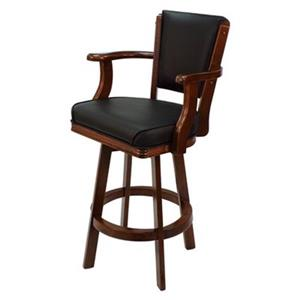 RAM Game Room Products English Tudor Swivel Bar Stool with Arms