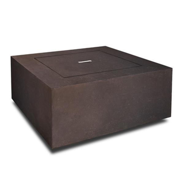 "Table avec foyer au propane Baltic, 24"" x 24"" x 4"", brun"