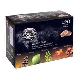 Bradley Smoker BT5FV120 5-Flavor Variety Bisquettes (Pack of