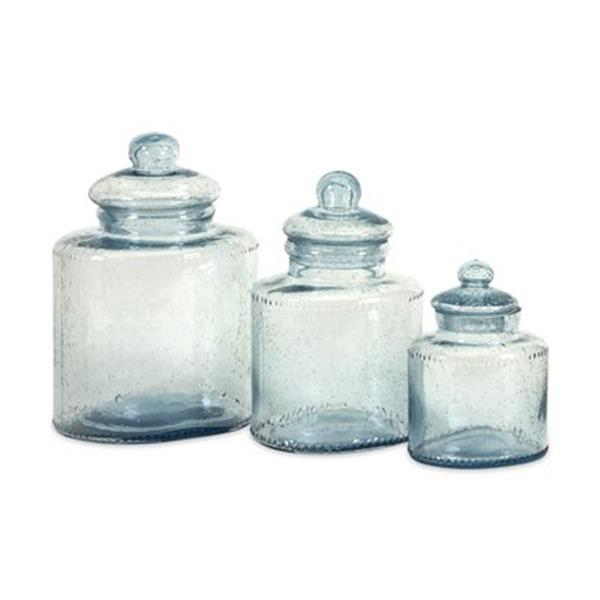 IMAX Worldwide Glass Cyprus Canister (Set of 3)