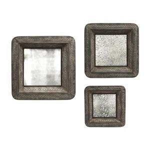 IMAX Worldwide Jezant Mirror Tray Wall Decor (Set of 3)